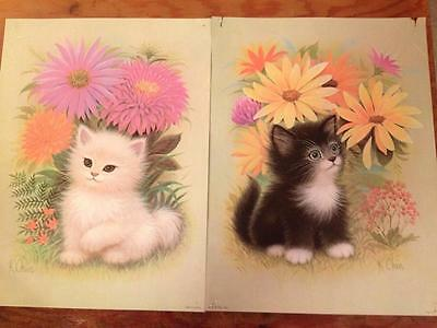K.Chin 1975 cat lithographs