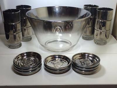 Mid century Queens Luster ware punch set and Kimoko Guardian coasters