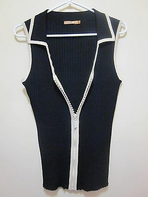 BELLDiNi Size 2X plus sparkling diamond Bling glam zippered sweater VEST TOP 2X