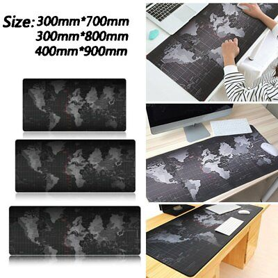 New Large Mouse Pad Extended Gaming XXL 900x300cm Big Size Desk Mat World Map US