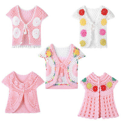 Newborn Kids Baby Girls Clothes Knitted Sweater Coat Cardigan Photography Prop