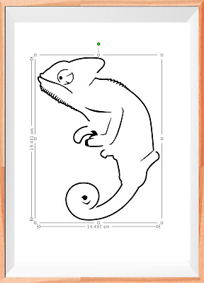 Chameleon Reptile Mylar Reusable Stencil Airbrush Painting Art Craft DIY Home