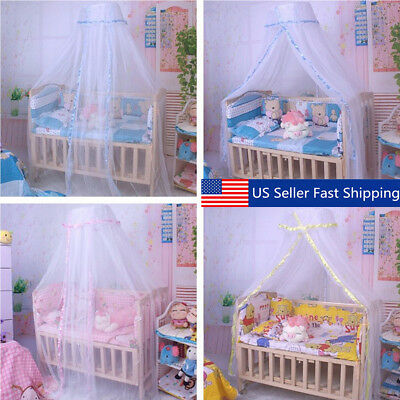 White Round Dome Baby Infant Mosquito Net Toddler Bed Crib Canopy Play Tents US & WHITE ROUND Dome Baby Infant Mosquito Net Toddler Bed Crib Canopy ...