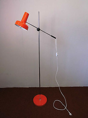 Stehlampe Lampe Leuchte Rot Chrom Space Age 70s 70er Design Panton