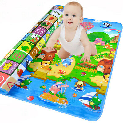 Waterproof Baby Crawl Play Mat Kids Foam Puzzle Game Blanket Picnic Rug-2*1.8M