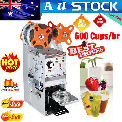 Electric Semi-automatic Cup Sealer Sealing Machine Bubble Tea 600 Cups/hr