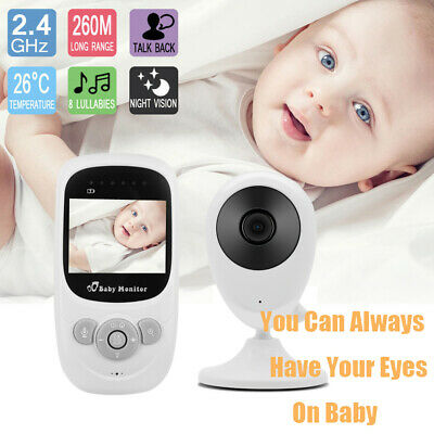 "2.4""LCD Wirless Digital Video Baby Monitor 2.4GHz Camera Night Vision Audio"