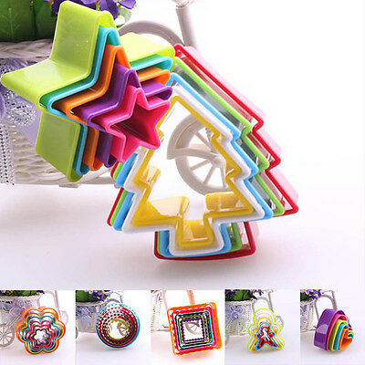 All Kind Diy Silicone Cookie Biscuit Pastry Cutter Plastic Mould Baking Mold~