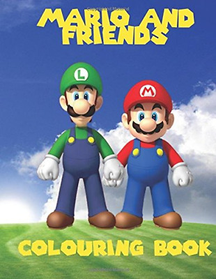 Mario and Friends Colouring Book: A great fun co by K W Books New Paperback Book