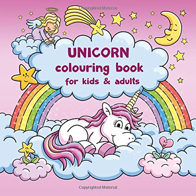 Unicorn colouring book for kids and adu by Coloring Books Art New Paperback Book
