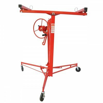 Drywall Panel Hoist Dry Wall Jack Rolling Caster Lifter Construction Tool