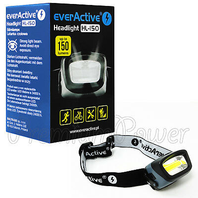 everActive HL-150 Headlight up to 150 lumens LED Headlamp Head Torch 3 Modes