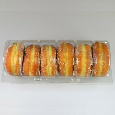 6 DOUGHNUT CLEAR POD x 250 *FREE NEXT DAY DELIVERY IF ORDERED BEFORE 1PM