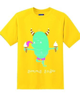 Cool Unique Funny Branded Indian, Yoga T shirt for Kids, Yummy Yoga