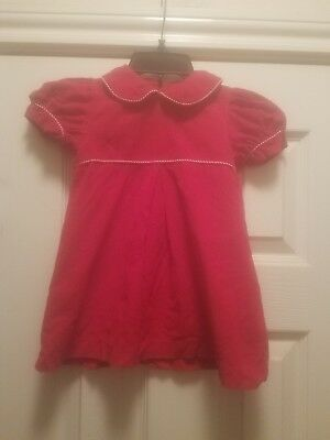 Shrimp and Grits Kids dress red/white 18 months
