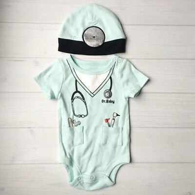 Doctor Baby Halloween Costume Bodysuit Hat 3 Months