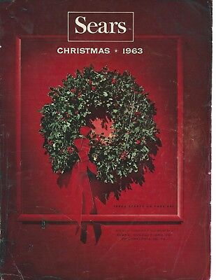 1963 Sears Christmas catalog pg COVER ONLY