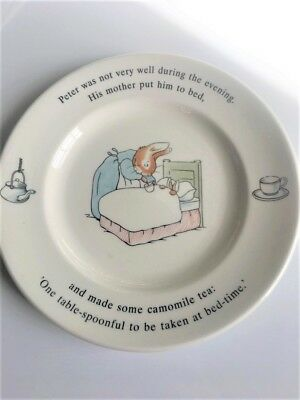 The World Of PETER RABBIT Plate - 1993 Wedgwood England by Warne - 7 Inch