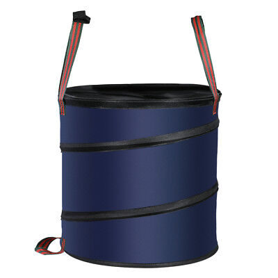 Pop Up Leaf Trash Can Gallon Easy Storage Case Collapsible Polyester Bags That