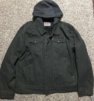 Nwt Levi'S Heavy Canvas Field Work Hooded Jacket Mens Size Xl Extra Large