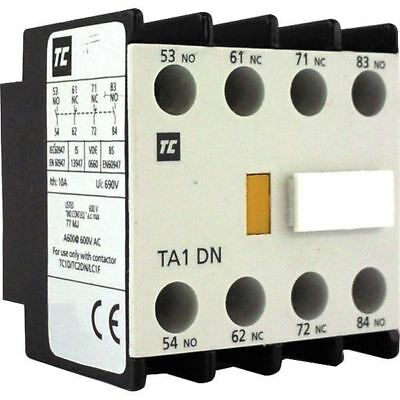 Europa Components TA1-DN22 Top Mount Auxilliary Block For Contactor 2NO 2NC