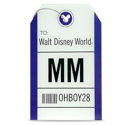 Disney Parks Travel and Gear Mickey Mouse 28 Airline Tag Luggage TAG Collection