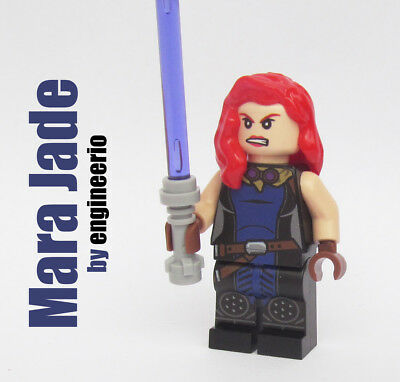Jedi Star Wars Minifigure **NEW** LEGO Custom Printed MARA JADE SKYWALKER