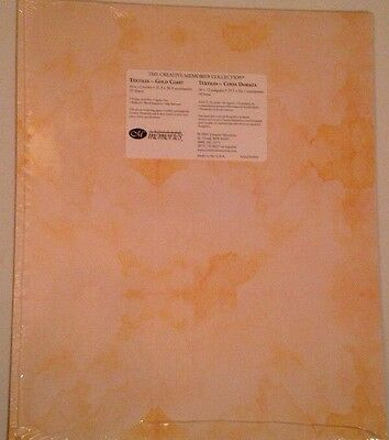 "New in Pkg Creative Memories Gold Coast Printed 10""x12"" Paper Pack 10 Sheets All"
