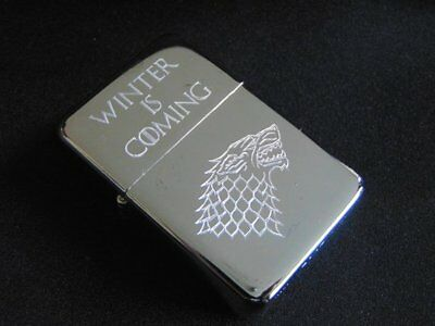 Game of Thrones Stark Direwolf Engraved Lighter With Gift Box FREE ENGRAVING