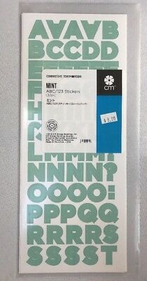NEW in Pkg Creative Memories Mint Decorative ABC/123 Stickers-3 sheets