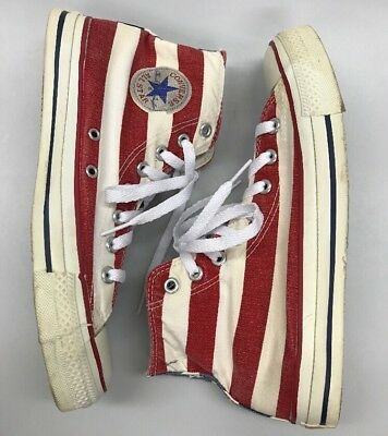 Vintage Converse All Star Mens High Top Sneakers American Flat Made in USA 8.5