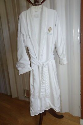 Frette White 100% Cotton Terry Cloth-Lined Robe from The Plaza Hotel Spa
