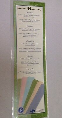 "New In Pkg Creative Memories 12 Whimsy 12"" Printed Vellum Borders-6 Colors/2 Ea"