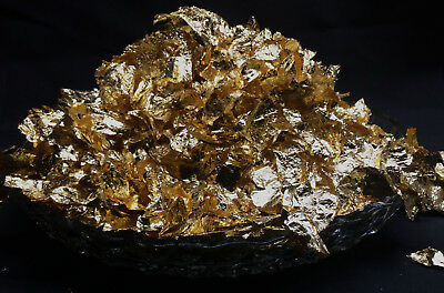 100 Grams GOLD LEAF BIG FLAKES Wonderful 24K Luster