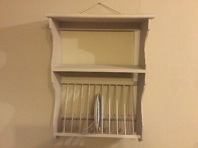 Painted  Kitchen Plate Rack Hokds 11 Plates