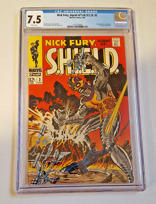 Nick Fury, Agent of SHIELD #2 CGC 7.5 White Pages! (Jul 1968, Marvel)
