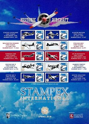 GB 2018 - Spring STAMPEX Smilers Sheet - Available Now!