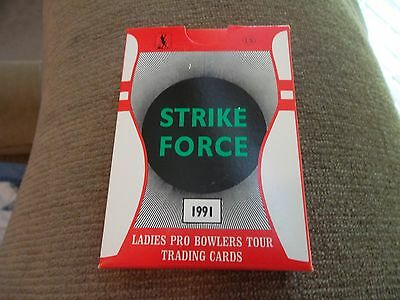 Strike Force Professional Womens Bowling Cards 1991 Mint in Box LBPT 1st EVER!