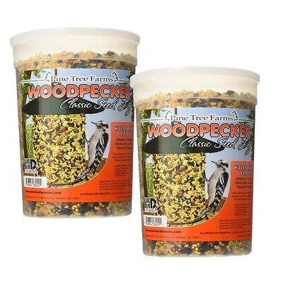 2 pack, Pine Tree Farms Woodpecker Seed Log 5 LB 0021 Made in USA