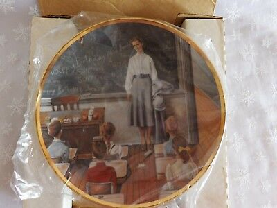 """Norman Rockwell Plate America at Work """"The School Teacher"""" 1984 Limited Edition"""