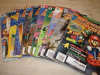 1997 Nintendo Power Magazines  11 Months,  Jan. Issue Is Missing.