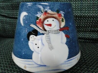Home Interiors  Homco  Snowman Candle Shade Christmas Hard To Find Rare Nice Buy