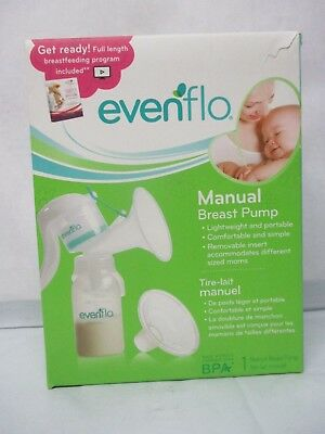 NEW Evenflo Manual Breast Pump Model #2860 Lightweight Portable Free Shipping
