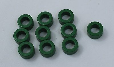 10pcs Inductor Coil Green Toroid Ferrite Cores Anti-interference 10x6x5mm USA