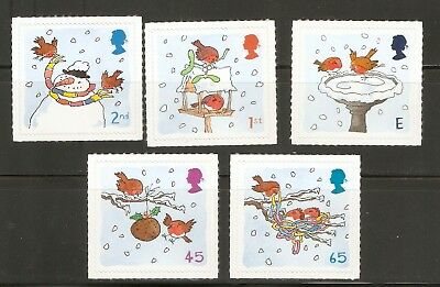 Collectible Great Britain 2001 Christmas Stamps:Snowman,Birdhouse,Suet Ball,Nest
