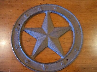 Rustic Western Style Cast Iron Star Wall/ Barn Decor