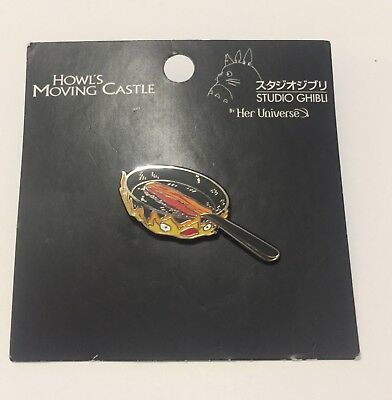 Studio Ghibli Calcifer Pin Howl's Moving Castle May All Your Bacon Burn Pin NEW