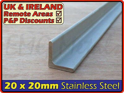 Stainless Steel Angle ║ 20x20 mm x3mm ║ marine,L section iron,profile,bracket