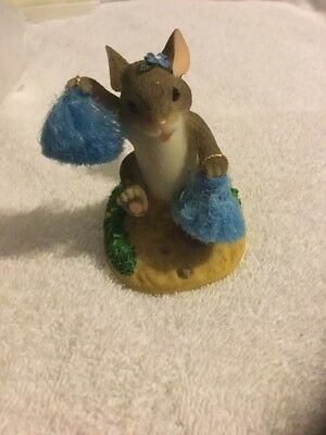 Charming Tails Good Cheers Cheerleader Ladybug Mouse Fitz & Floyd Figurine