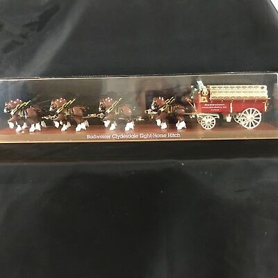Budweiser Clydesdale Eight Horse Hitch Mechanical Bank 1995 Vintage B576